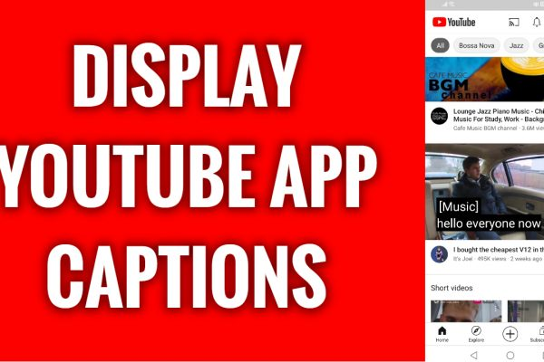 How to display YouTube app captions