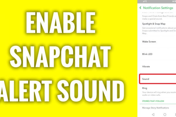 How to enable Snapchat alert sound