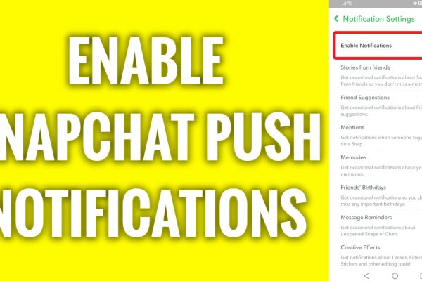 How to enable Snapchat push notifications