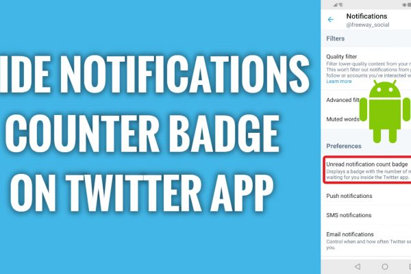 How to hide notifications counter badge on Twitter Android