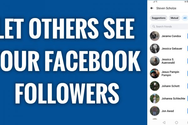 How to let others to see your followers on Facebook App