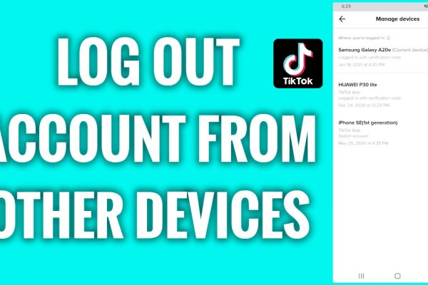 How to log out TikTok account from other devices