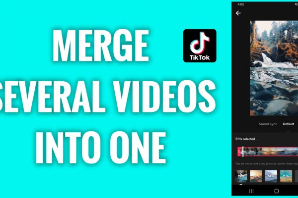 How to merge several videos into one on TikTok