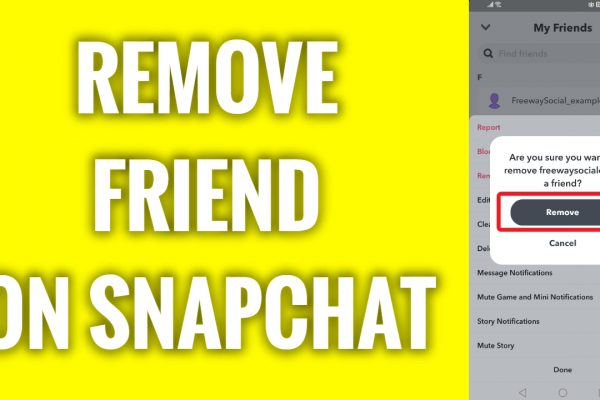 How to remove friend on Snapchat