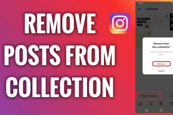 How to remove posts from an Instagram collection