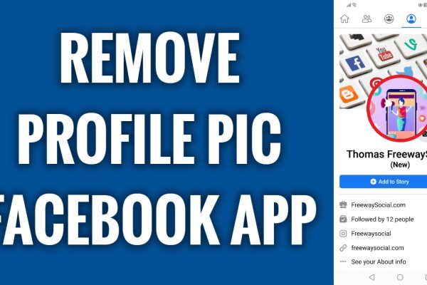 How to remove profile picture on Facebook App