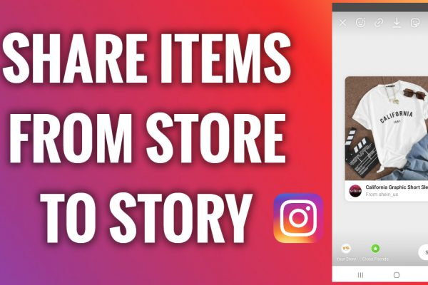 How to share items from an Instagram store to your Story