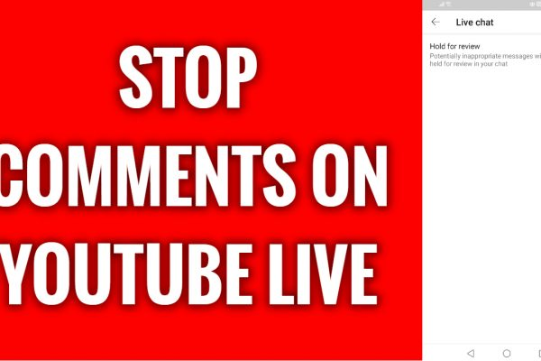 How to stop inappropriate comments on YouTube live