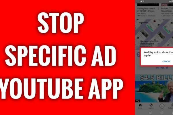How to stop specific ad on YouTube app