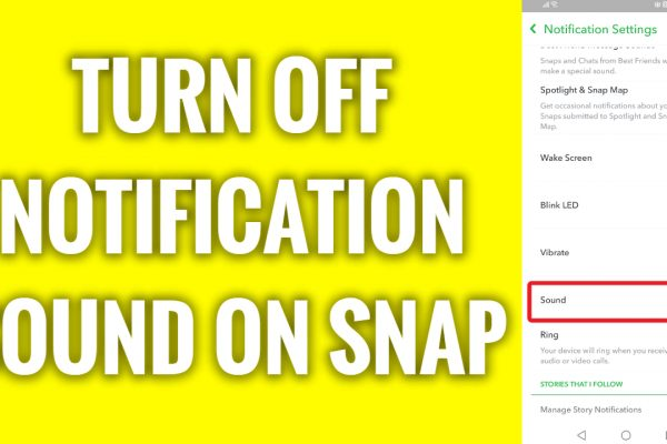 How to turn off notification sound on Snapchat app