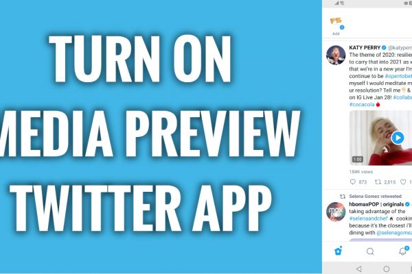 How to turn on media previews on Twitter app