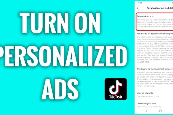 How to turn on personalized ads on TikTok