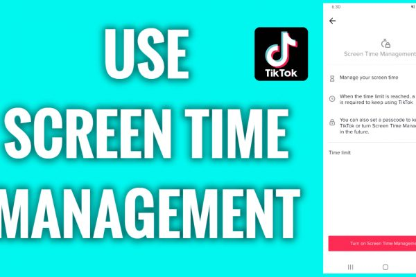 How to use the screen time management feature on TikTok